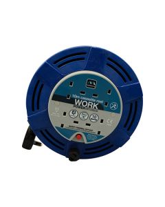 Masterplug Extension Cable Reel 240V 10A 4 Gang 10m