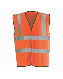 Waistcoat - Hi-Vis Fluorescent Scotchtape Large Orange