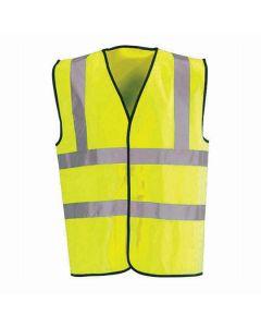 Hi-Vis Waistcoat Fluorescent Scotchtape Yellow Large