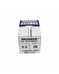 Reisser Stainless Steel Pozi Screws 3.5x20mm Box of 200
