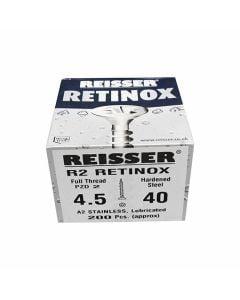 Reisser Stainless Steel Pozi Screws 4.5x40mm Box of 200
