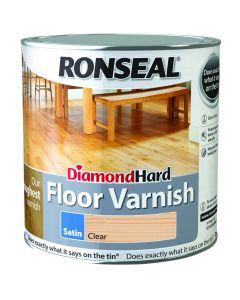 Ronseal Diamond Hard Floor Varnish Satin Clear 5L