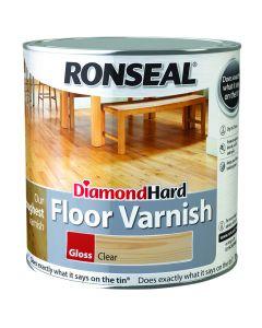 Ronseal Diamond Hard Floor Varnish Gloss Clear 2.5L