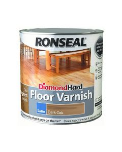 Ronseal Diamond Hard Floor Varnish Satin Dark Oak 2.5L