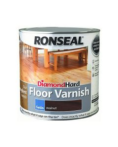 Ronseal Diamond Hard Floor Varnish Satin Walnut 2.5L