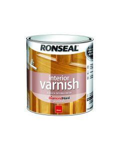 Ronseal Diamond Hard Interior Varnish Gloss Medium Oak 750ml
