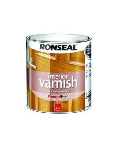Ronseal Diamond Hard Interior Varnish Gloss Dark Oak 750ml