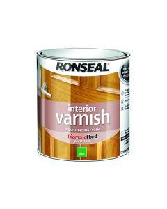 Ronseal Diamond Hard Interior Varnish Matt Medium Oak 750ml