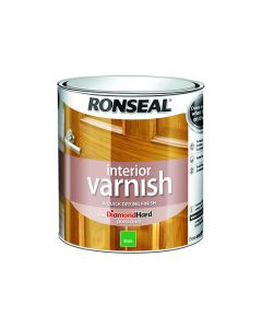 Ronseal Diamond Hard Interior Varnish Matt Dark Oak 750ml