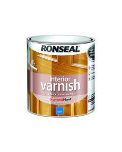 Ronseal Diamond Hard Interior Varnish Satin Medium Oak 750ml