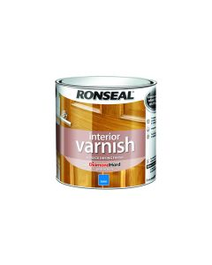 Ronseal Diamond Hard Interior Varnish Satin Dark Oak 250ml