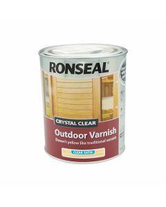 RONSEAL Outdoor Varnish - Crystal Clear Water Based 750ml