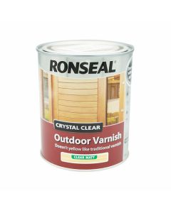 Ronseal Crystal Clear Outdoor Varnish Matt Clear 750ml