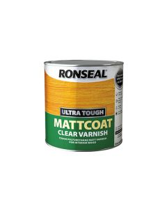 Ronseal Ultra Tough Clear Varnish Matt Coat 250ml