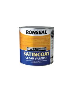 Ronseal Ultra Tough Clear Varnish Satin Coat 250ml