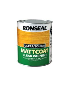 Ronseal Ultra Tough Clear Varnish Matt Coat 750ml