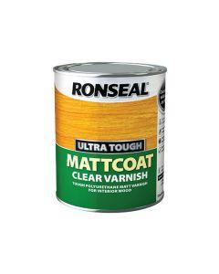 Ronseal Ultra Tough Clear Varnish Matt Coat 750ml