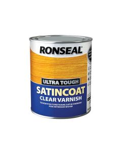 Ronseal Ultra Tough Clear Varnish Satin Coat 750ml