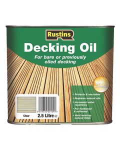 RUSTINS Decking Oil 2.5L Clear