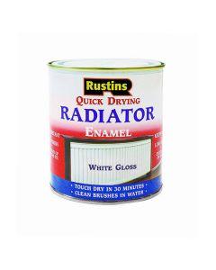 Rustins Quick Dry Enamel Radiator Paint Gloss White 500ml