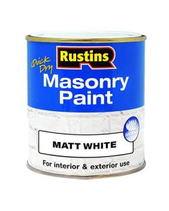 RUSTINS Masonry Paint - Q/Drying 500ml Black