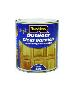 Rustins Quick Dry Outdoor Varnish Satin Clear 500ml