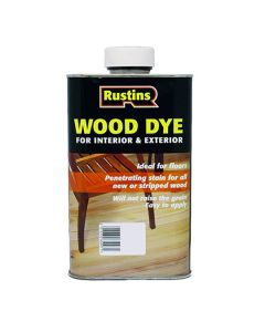 RUSTINS Oil Based Wood Dye 250ml Medium Oak