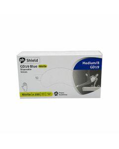 Disposable Nitrile Powder Free Gloves Blue Medium Box of 50