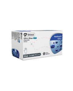 Disposable Vinyl Powdered Gloves Blue Medium Box of 50