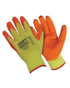 Extra Grip Cotton Gloves Rubber Palm & Fingers Orange XL