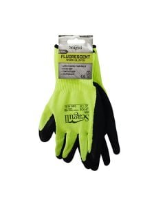 SEAGULL Gloves - Extra Grip Latex Foam Coated Size 10 Fluoresc