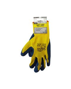 SEAGULL Gloves - Nylon Latex Palm Coated Size 10 Yellow