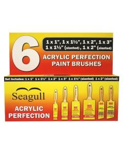 SEAGULL Brush Yellow Acrylic Perfection Set 6Pcs