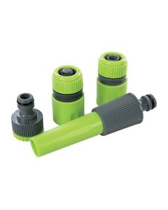 SILVERLINE Hose Pipe Fitting Plastic Connector Set 4Pcs