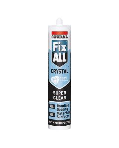 SOUDAL FIX ALL Adhesive Glue - Bonds All 290ml Crystal