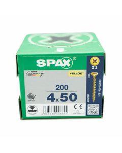 SPAX Screws Flat Pozi Countersunk CSK 4x50mm