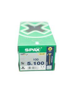 SPAX Screws Flat Pozi Countersunk CSK 5x100mm