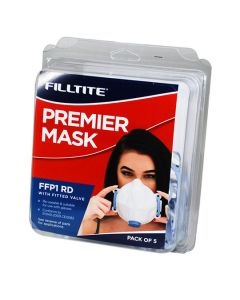Premier Dust Mask Fitted Blue Valve FFP1