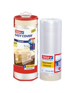 Tesa Easy Cover Masking Tape & Plastic Cover 1400mm x 33m