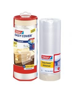 TESA Easy Cover - 2In1 Masking Tape With Plastic Cover 1400mmx33m