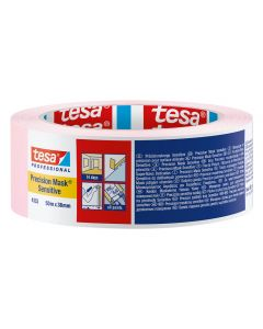 Tesa Precision Masking Tape Sensitive Pink 38mm x 50m Roll