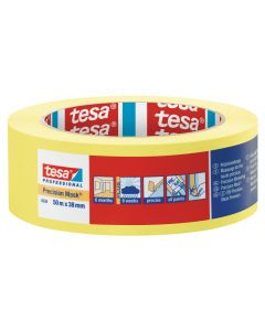 Tesa Precision Masking Tape Yellow 38mm x 50m Roll