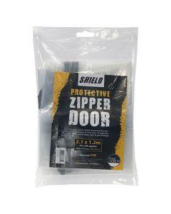 Timco Plastic Dustsheet Protective Zipper Door 2.1m x 1.2m