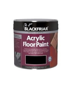 BLACKFRIAR Acrylic Q/Drying Floor Paint (Int/Ext) 2.5L Black