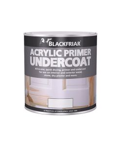 Blackfriar MDF Acrylic Primer Undercoat Paint White 2.5L