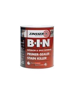 Zinsser B.I.N Primer Sealer Paint White 1L