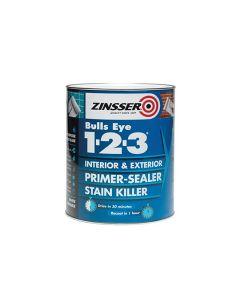 ZINSSER Bulls Eye 1-2-3 Primer Stain Block 1L