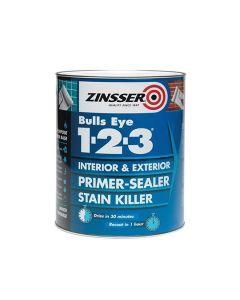 ZINSSER Bulls Eye 1-2-3 Primer Stain Block 2.5L