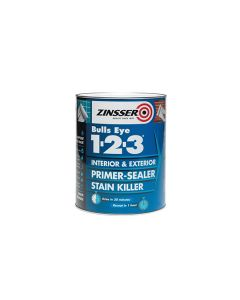 ZINSSER Bulls Eye 1-2-3 Primer Stain Block 500ml