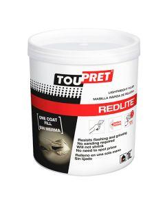 TOUPRET REDLITE Light Weight Fast Drying Filler 1L